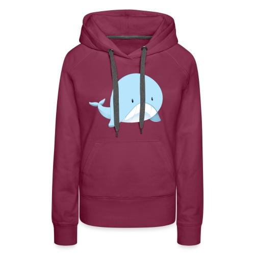 Whale - Felpa con cappuccio premium da donna