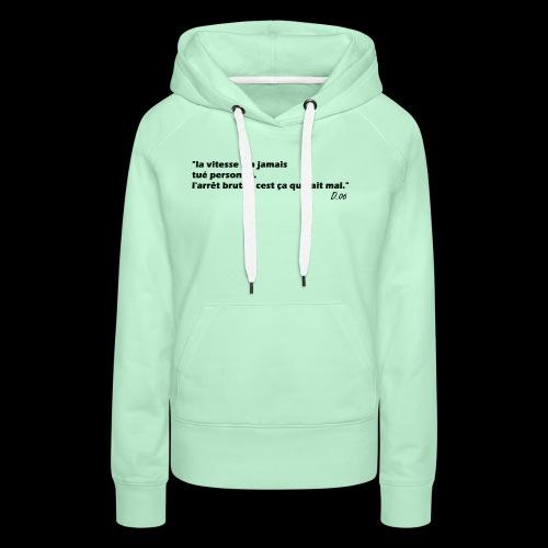 vitesse (noir) - Sweat-shirt à capuche Premium pour femmes