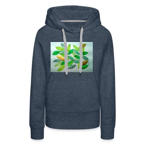 Feuilles - Sweat-shirt à capuche Premium pour femmes