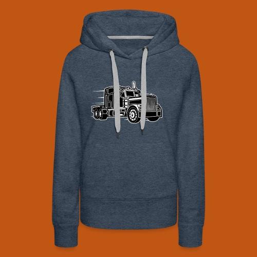 Truck / Lkw 03_schwarz weiß - Frauen Premium Hoodie