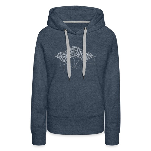 European Fan White - Vrouwen Premium hoodie