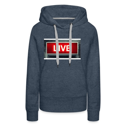live bord youtube - Vrouwen Premium hoodie