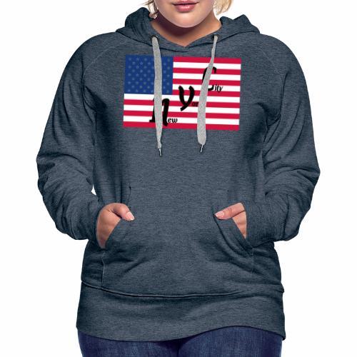 America Flag NYC - Frauen Premium Hoodie