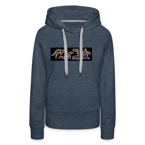 Les kangourous noirs 2 - Sweat-shirt à capuche Premium pour femmes