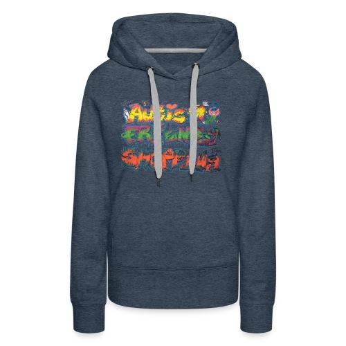 Autism Friendly Shopping Graffiti Style - Women's Premium Hoodie