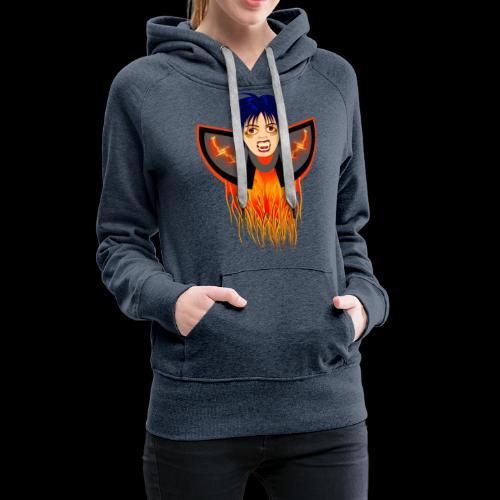 vampire en flamme - Sweat-shirt à capuche Premium pour femmes