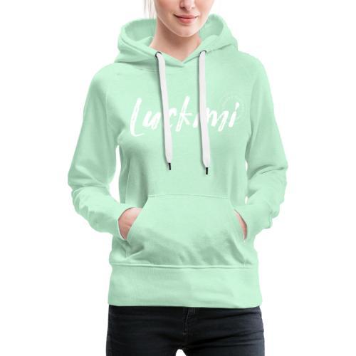 Luckimi logo white - Women's Premium Hoodie