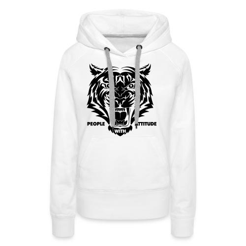 tijger-zwart - Vrouwen Premium hoodie