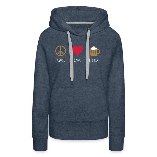 Peace Love Beer - Women's Premium Hoodie