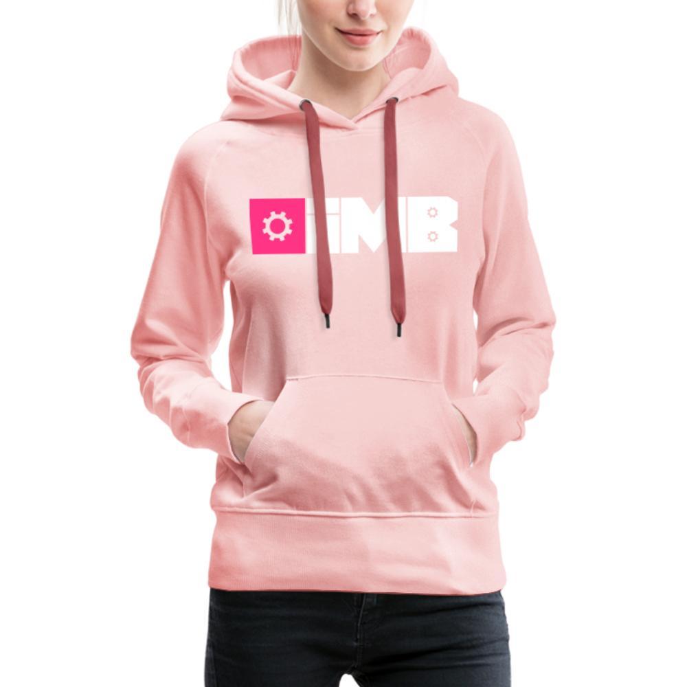 IMB Logo (plain) - Women's Premium Hoodie - crystal pink
