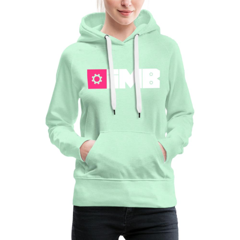 IMB Logo (plain) - Women's Premium Hoodie - light mint