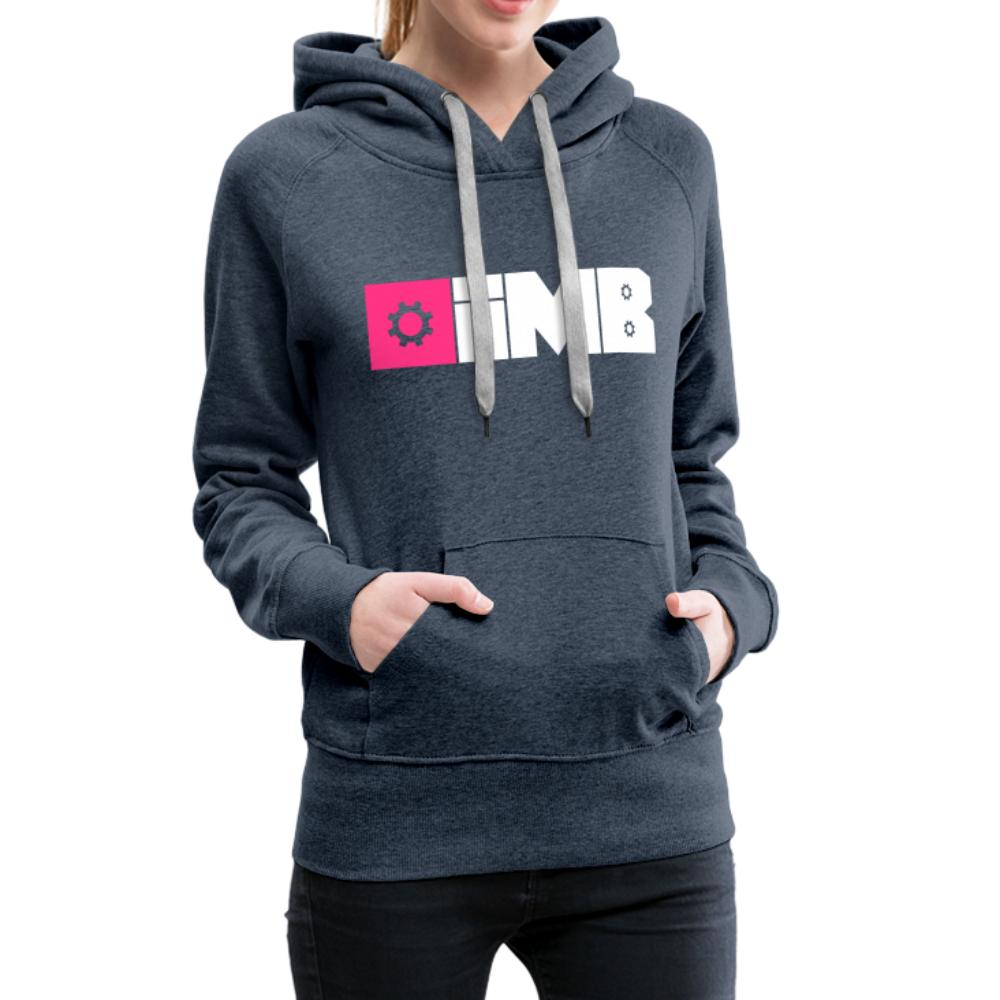 IMB Logo (plain) - Women's Premium Hoodie - heather denim