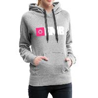 IMB Logo (plain) - Women's Premium Hoodie heather grey