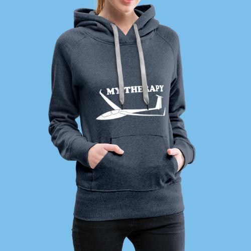 Therapie Segelflieger gleiten Segelflugzeug - Frauen Premium Hoodie