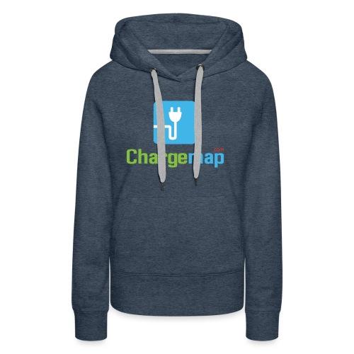 Logo ChargeMap - Sweat-shirt à capuche Premium pour femmes