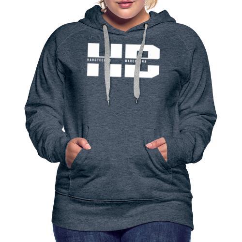 HB 2021BLANCO - Sudadera con capucha premium para mujer