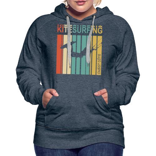 Kitesurfing Ouest Côte - Sweat-shirt à capuche Premium pour femmes
