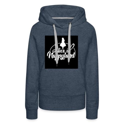 Alice in Nappyland TypographyWhite 1080 - Women's Premium Hoodie