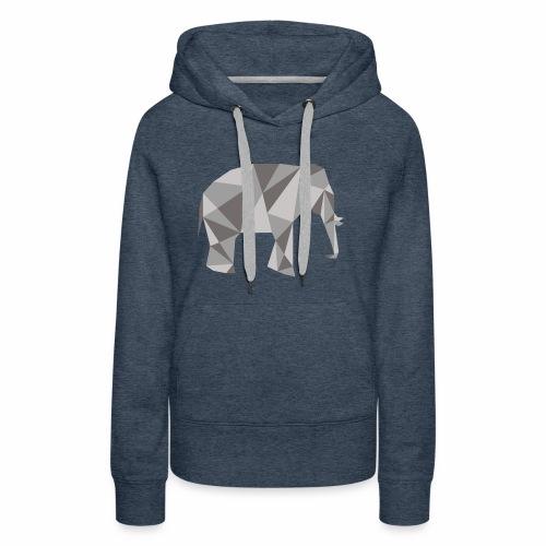 elephant géométrique - Sweat-shirt à capuche Premium pour femmes
