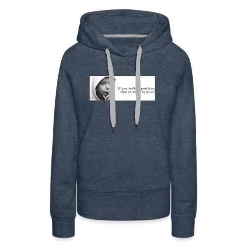 quiet - Vrouwen Premium hoodie
