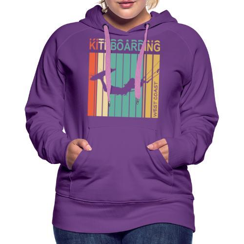 Kiteboarding WEST COAST - Sweat-shirt à capuche Premium pour femmes