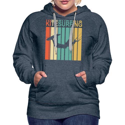 Kitesurfing - Sweat-shirt à capuche Premium pour femmes