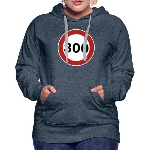 300 km/h - Sweat-shirt à capuche Premium pour femmes