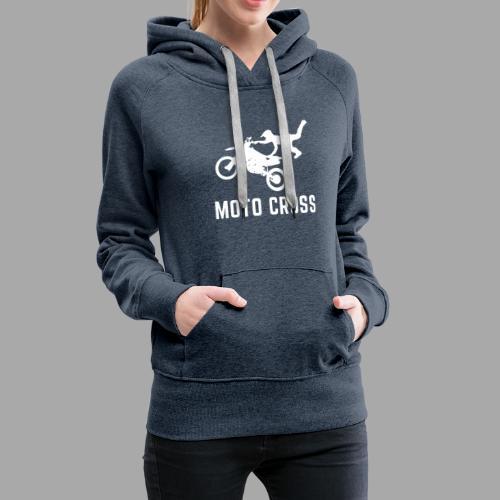 MOTO CROSS - Sweat-shirt à capuche Premium pour femmes
