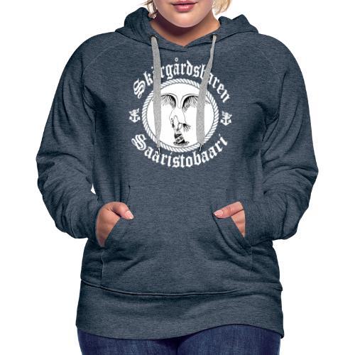 White Logo - Naisten premium-huppari