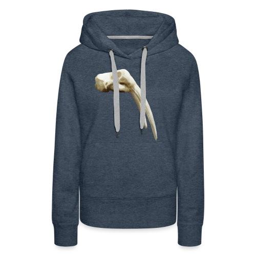 Schedel van een walrus - Vrouwen Premium hoodie