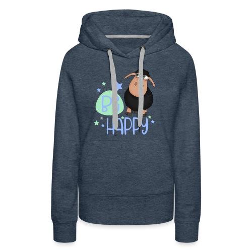 Schwarzes Schaf - Be happy Schaf - Glücksbringer - Frauen Premium Hoodie