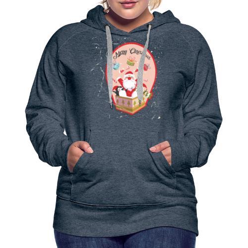 Merry Chrismas1 - Sweat-shirt à capuche Premium pour femmes