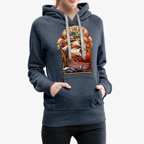 L'explorateur - Sweat-shirt à capuche Premium pour femmes