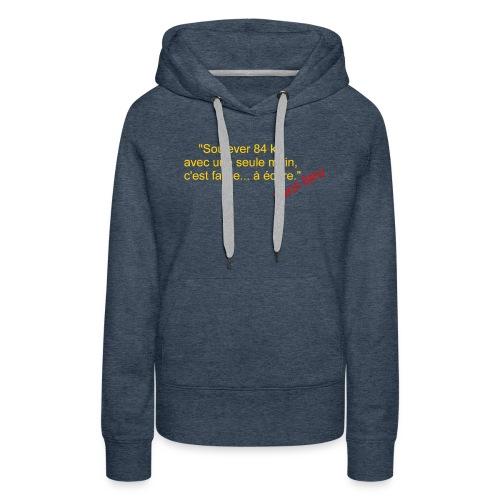 La Méthode Française humour 2 recto - Sweat-shirt à capuche Premium pour femmes