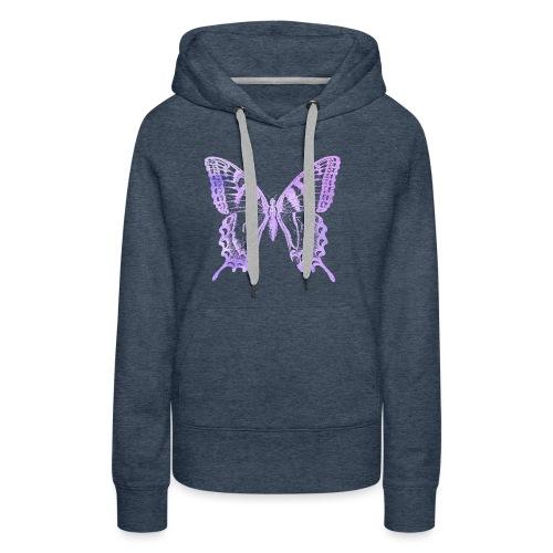 Watercolor Butterfly - Sweat-shirt à capuche Premium pour femmes