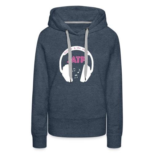 CASQUE AUDIO BLANC - Sweat-shirt à capuche Premium pour femmes