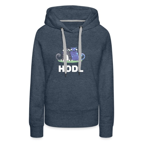 Kitty HODL white - Women's Premium Hoodie