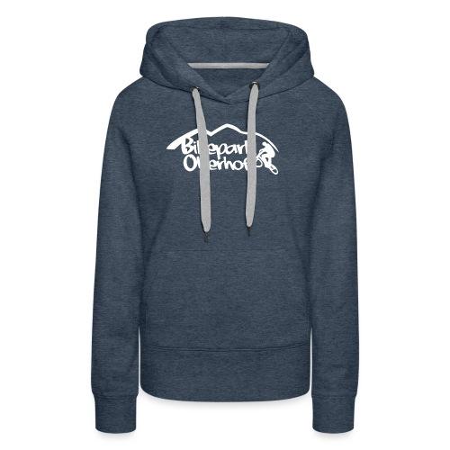 Logo White - Frauen Premium Hoodie