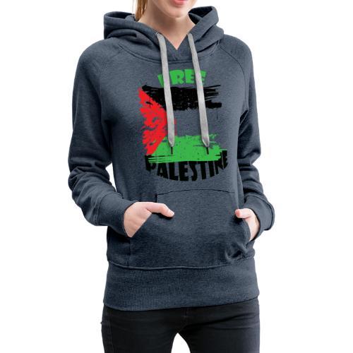 free palestine - Sweat-shirt à capuche Premium pour femmes