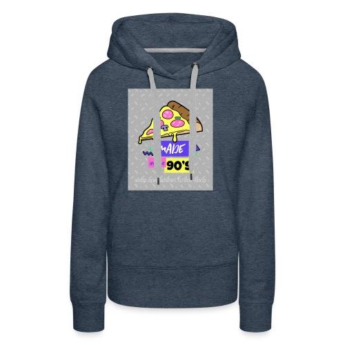La pizza 🍕 - Sweat-shirt à capuche Premium pour femmes