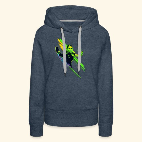 Eyes on the ball and focus playing the game - Frauen Premium Hoodie