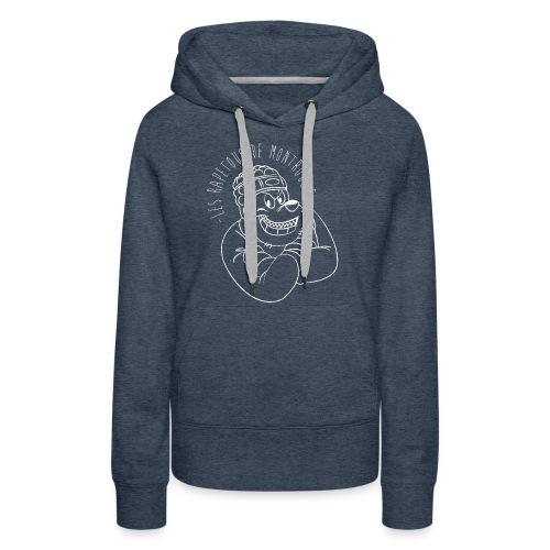 Rapetous (Blanc) - Sweat-shirt à capuche Premium pour femmes