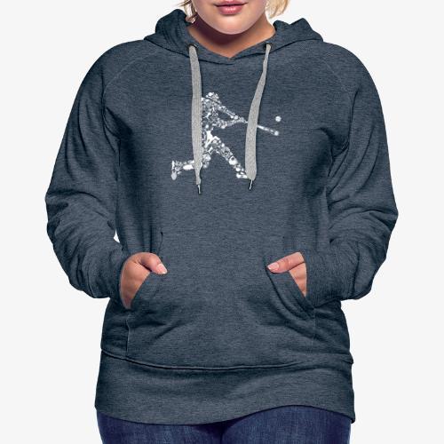 Joueur de baseball - Sweat-shirt à capuche Premium pour femmes