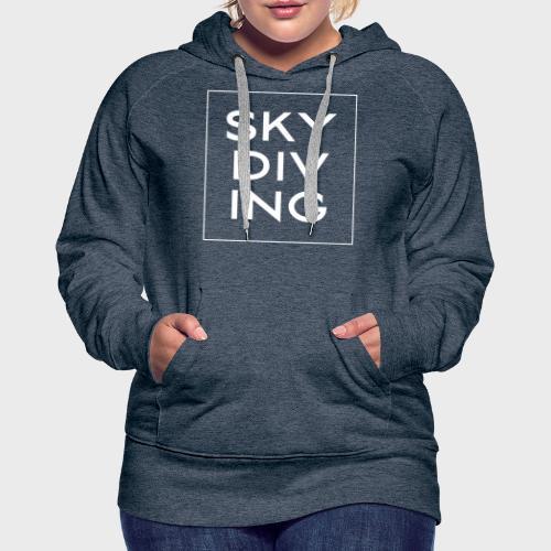 SKY DIV ING White - Frauen Premium Hoodie