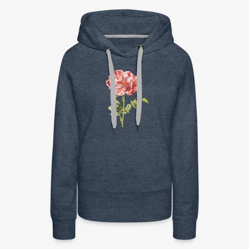 tulipe vintage - Sweat-shirt à capuche Premium pour femmes