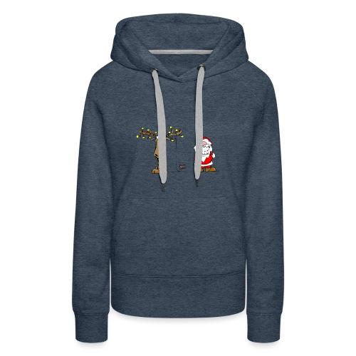 noel branché - Sweat-shirt à capuche Premium pour femmes