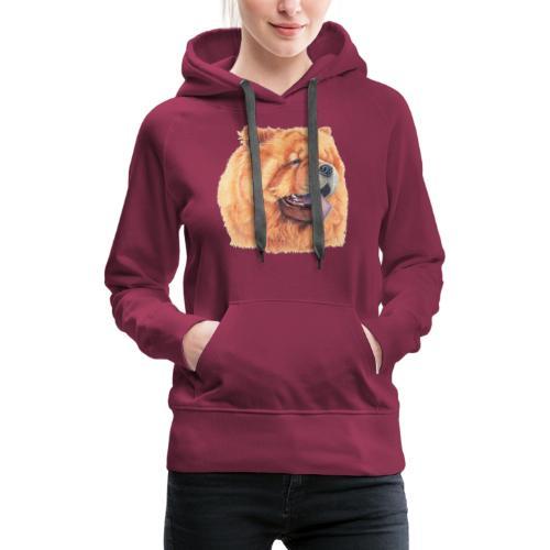 chow chow - Dame Premium hættetrøje