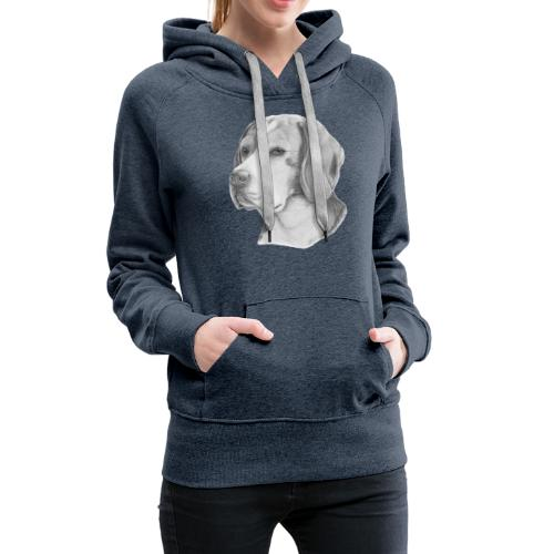 beagle M - Dame Premium hættetrøje