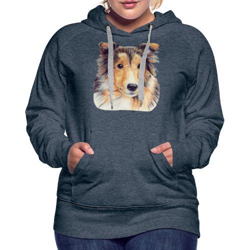 shetland Sheepdog 2 - Dame Premium hættetrøje