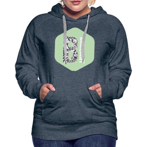 B brilliant green - Vrouwen Premium hoodie